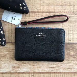 Coach Pebbled Leather Wrislet in Black